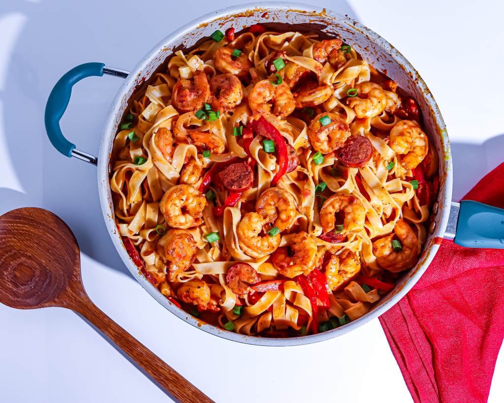 Creamy Creole Pasta with Shrimp and Sausage Gluten Free