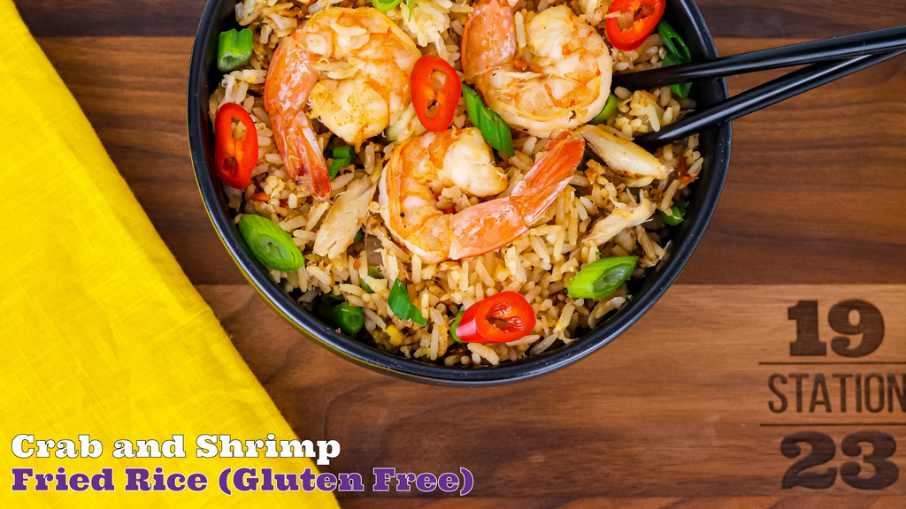 Better Than Takeout Crab and Shrimp Fried Rice Gluten Free