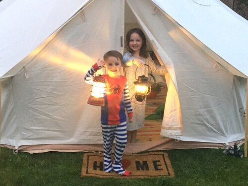 Even the littlest of campers will get a bright education from time spent in tents!