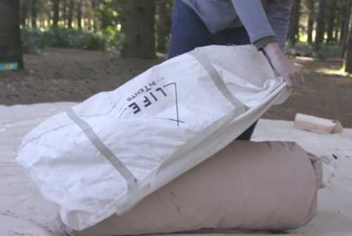 Packing a bell tent up
