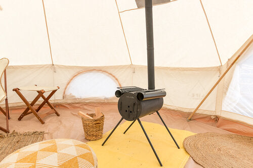 Some bell tents have a stove jack