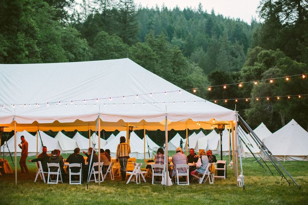 Cultivate community with others who share common interests with a group glamping event. Women-identifying moto riders meet up at  The Wild Gypsy Tour  each year, and Life inTents provides on-site bell tent rentals for a dreamy retreat for riders. Photo: @NathalieK