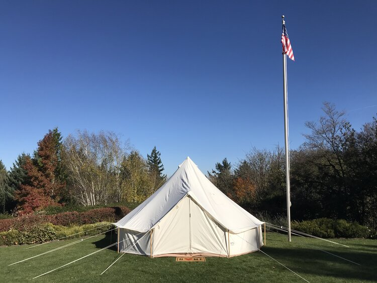 clean bell tent