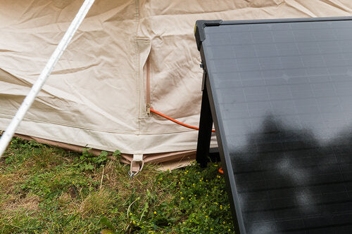 tent power cord entry