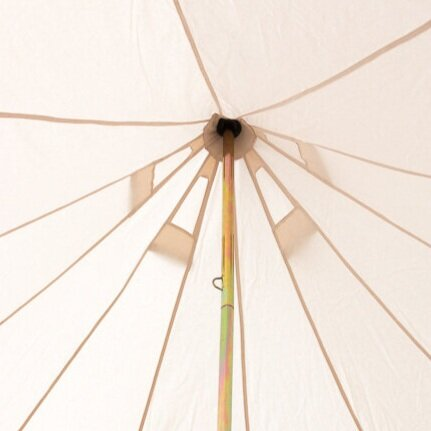 Tent air vents on bell tent