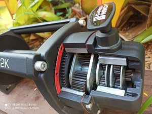 Carbon 12K 12000lb Electric 4wd winch with synthetic rope