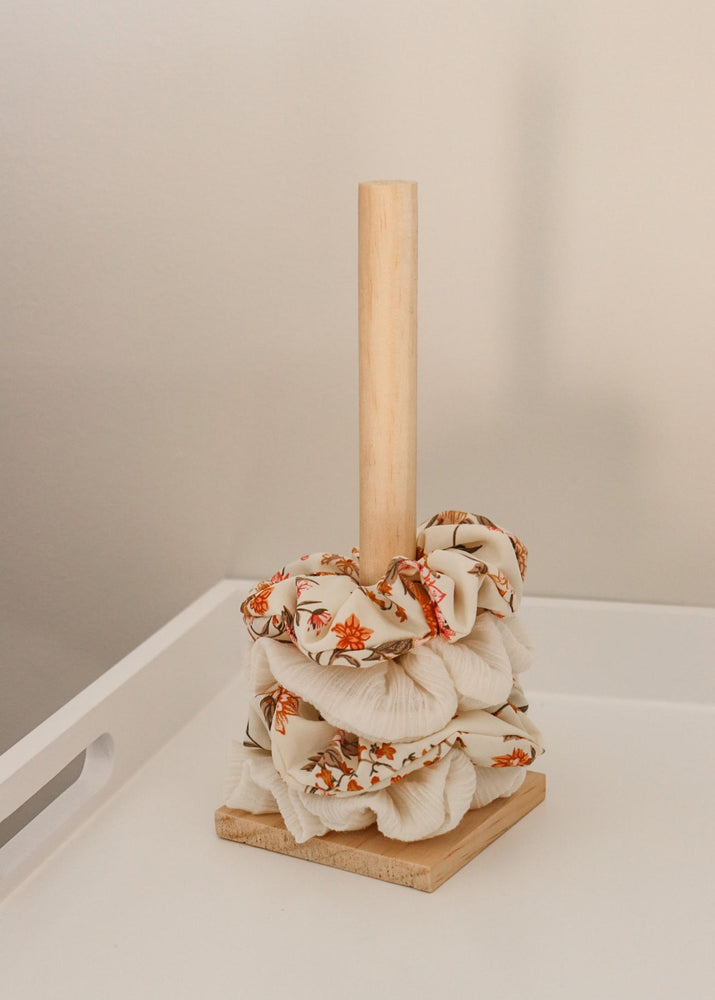 Natural Wood Scrunchie Holder