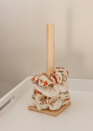 Load image into Gallery viewer, Natural Wood Scrunchie Holder
