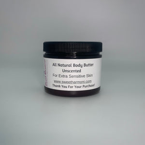 "Unscented Body Butter ""For Extra Sensitive Skin"""
