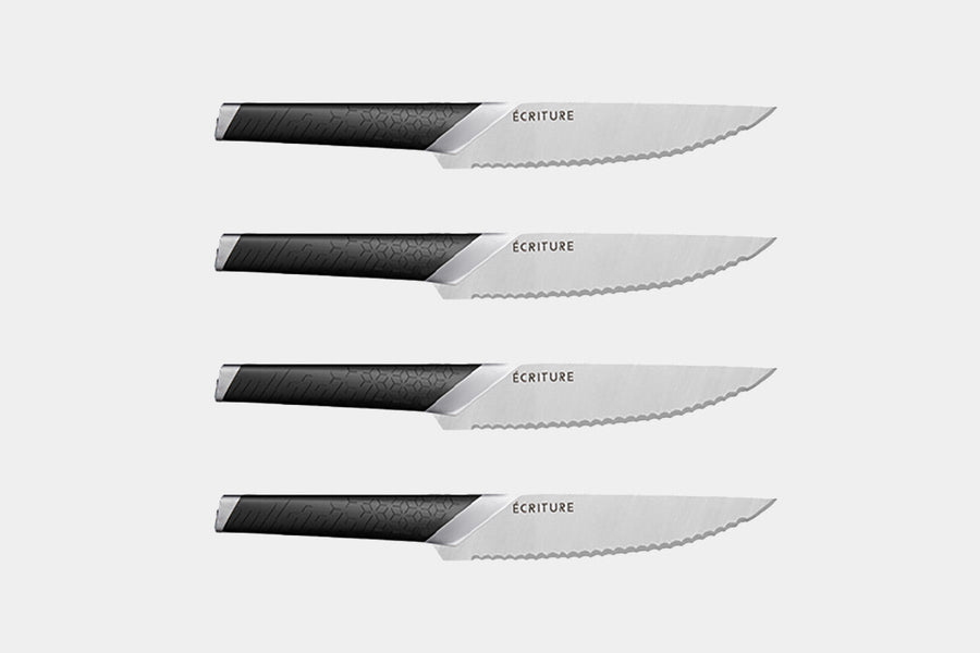 To sharpen your dining experience, you can upgrade to the Écriture Steak Knife.