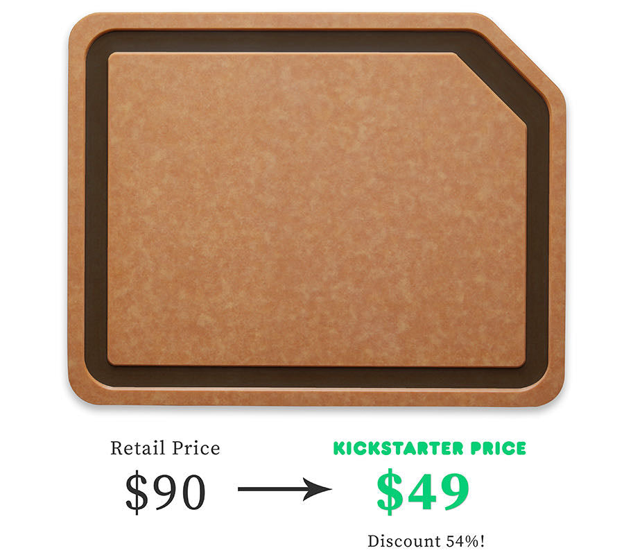Écriture Cutting Board Kickstarter Price is $49
