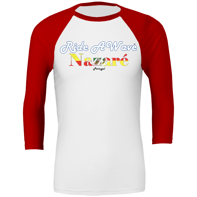Ride a Wave: Nazare 3/4 sleeve Baseball Top