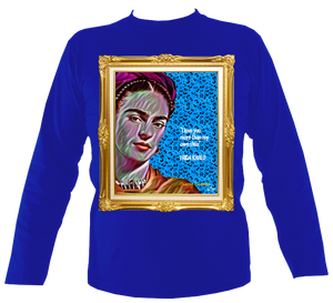 "Frida: No.4 ""I love you more..."" in Gold Frame - Long Sleeve"
