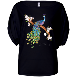 June Lornie: Peacock (Ladies Flowly Circle Top)
