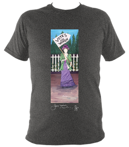 June Lornie: Votes for Women (Unisex Short Sleeve t-shirt)