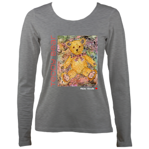 Maxine Shisselle: Teddy Bear#4 (Ladies Long Sleeve T-shirt)