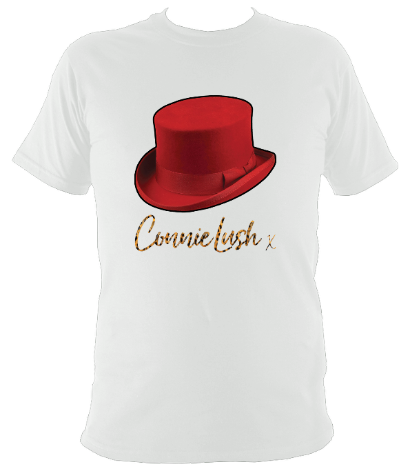 No.8: Red Top Hat & Leopard Autograph (White or Black T-shirt)