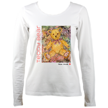 Load image into Gallery viewer, Maxine Shisselle: Teddy Bear#5 (Ladies Long Sleeve T-shirt)