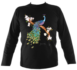 June Lornie: Peacock (Unisex Long Sleeve Top)