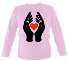 Load image into Gallery viewer, #ClapForOurCarers - Love Hearts Long Sleeve