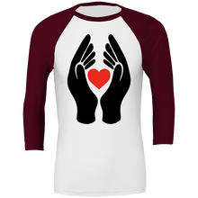 Load image into Gallery viewer, #ClapForOurCarers - Love Hearts All Sport Unisex Baseball Tee