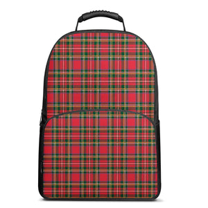 Red Plaid - 17 Inch Felt Backpack