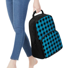 Load image into Gallery viewer, Blue Plaid - 17 Inch Felt Backpack