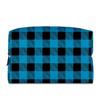 Blue Plaid - Cosmetic Bag
