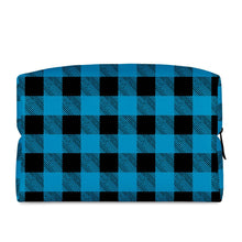 Load image into Gallery viewer, Blue Plaid - Cosmetic Bag