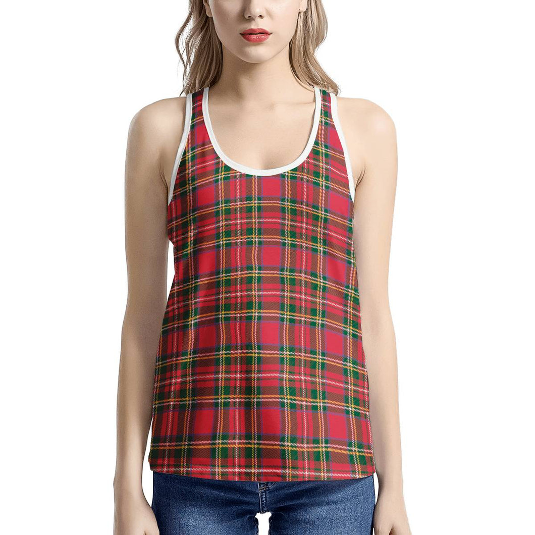 Red Plaid - Women's I-shaped Tank