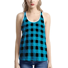Load image into Gallery viewer, Blue Plaid - Women's I-shaped Tank