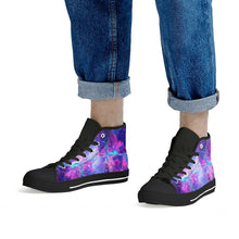Load image into Gallery viewer, Intergalactic - Black High Top Canvas Shoes