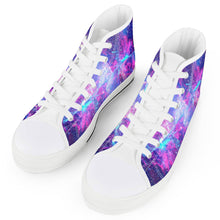 Load image into Gallery viewer, Intergalactic - White High Top Canvas Shoes