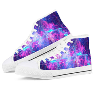 Intergalactic - White High Top Canvas Shoes