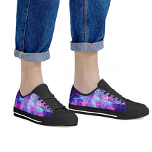 Load image into Gallery viewer, Intergalactic - Black Low Top Canvas Shoes