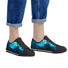 Load image into Gallery viewer, Dream Waves - Black Low Top Canvas Shoes