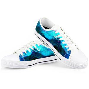 Dream Waves - White Low Top Canvas Shoes