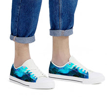 Load image into Gallery viewer, Dream Waves - White Low Top Canvas Shoes