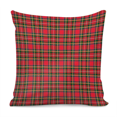 Red Plaid - Pillow Cover