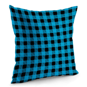 Blue Plaid - Pillow Cover
