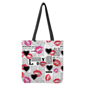 Lips Cloth Tote Bags