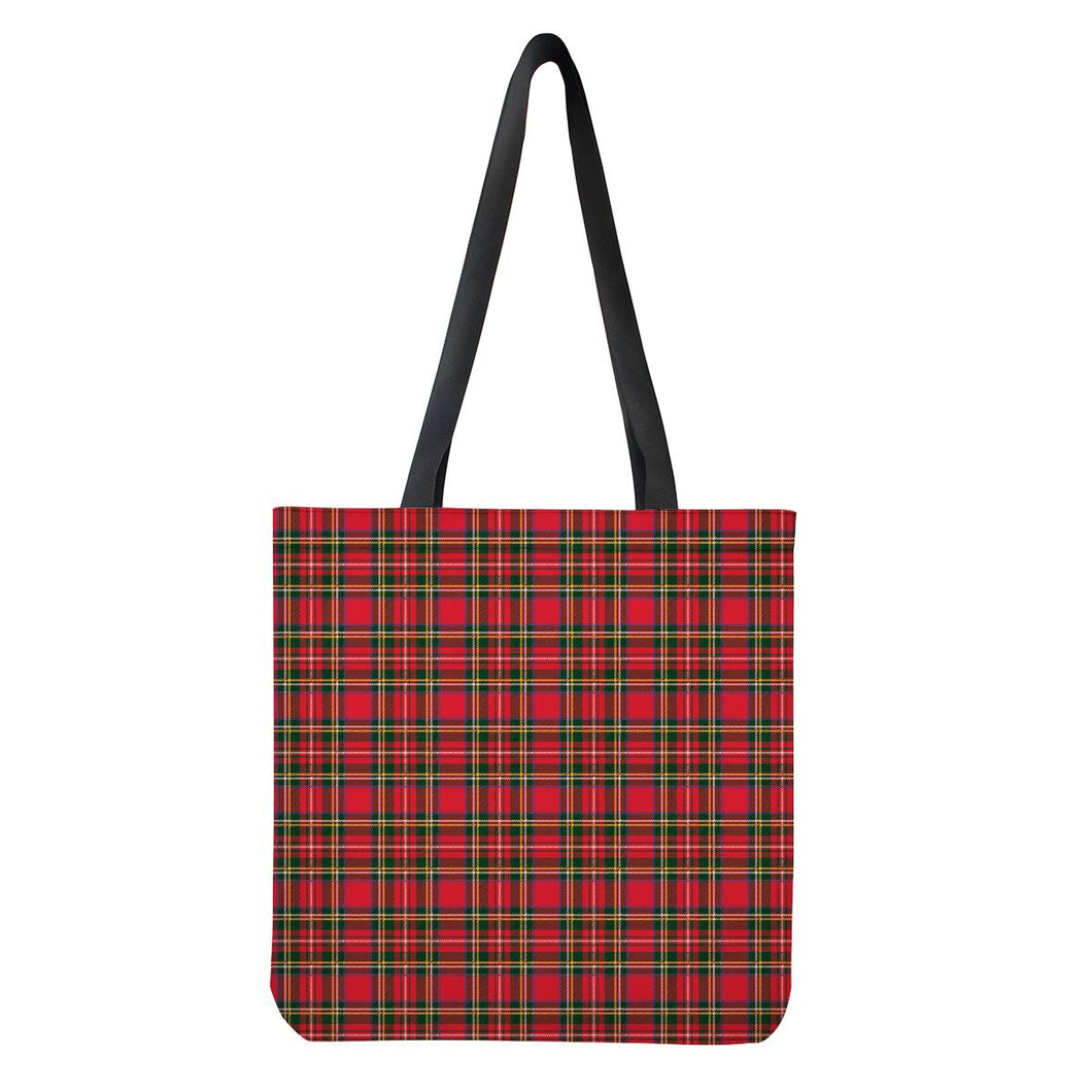 Red Plaid - Cloth Tote Bags
