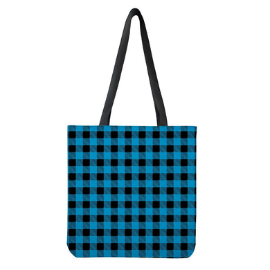 Blue Plaid - Cloth Tote Bags