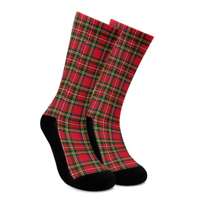 Red Plaid - Crew Socks