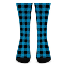 Load image into Gallery viewer, Blue Plaid - Crew Socks