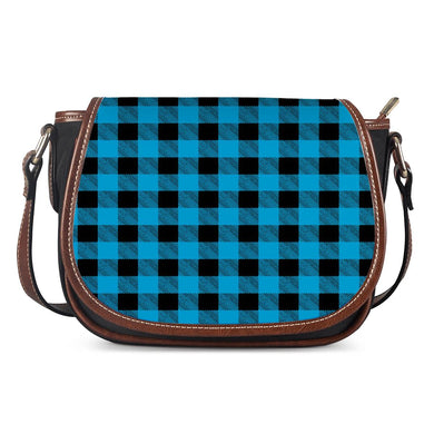 Blue Plaid - Saddle Bags