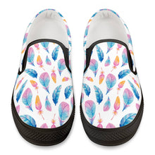 Load image into Gallery viewer, Fly Away - Black Slip On Shoes