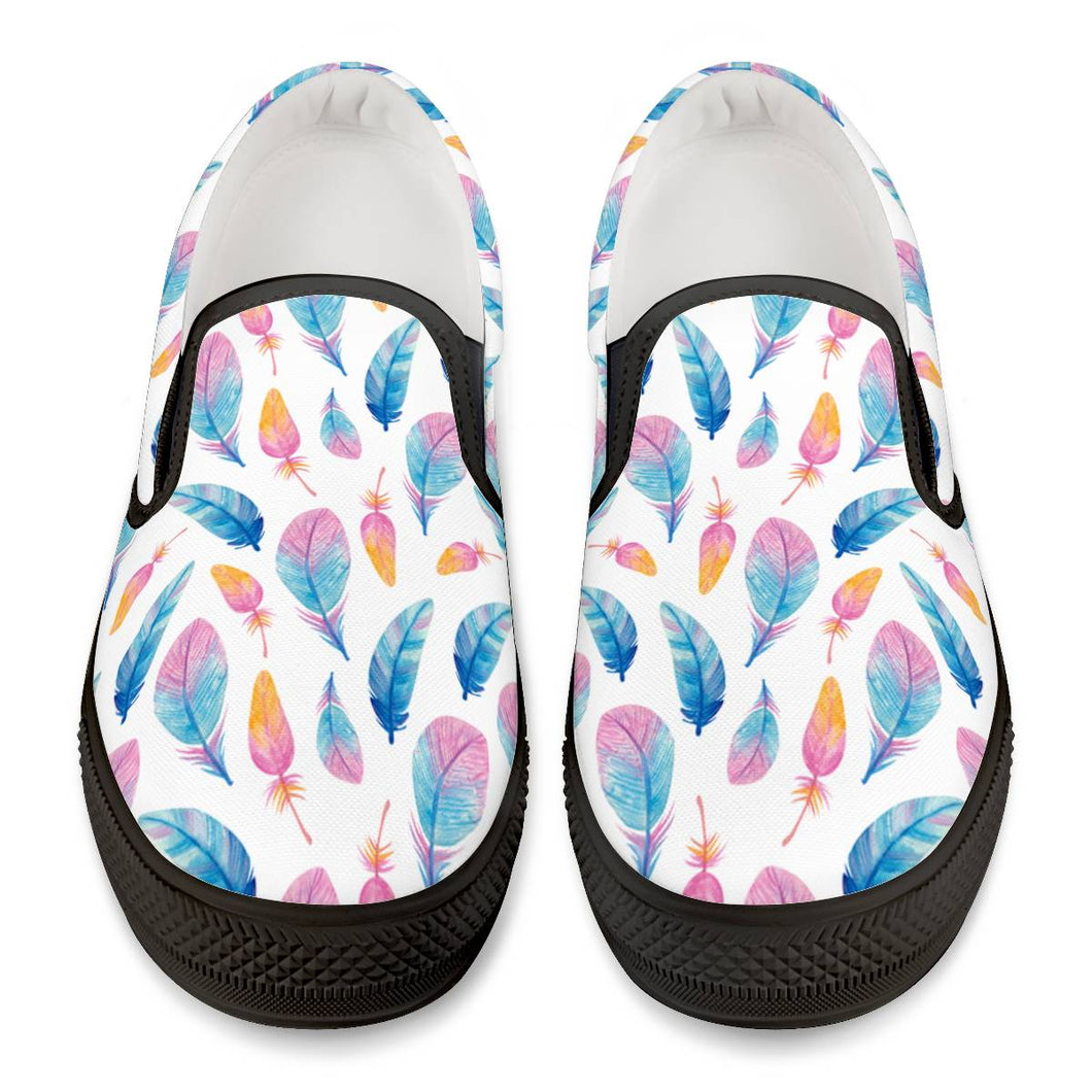 Fly Away - Black Slip On Shoes