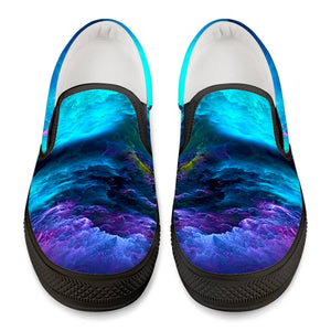 Dream Waves - Black Slip On Shoes