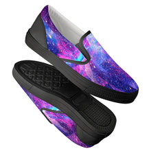 Load image into Gallery viewer, Intergalactic - Black Slip On Shoes